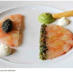 Langustinen Carpaccio mit Kaviar