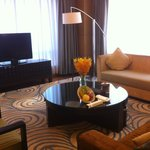 the very spacious lounge of the executive suite