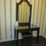 Dressing table/area outside bathroom