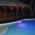 Resort pool next to Restaurant