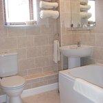 En-suite bathroom for super king size room
