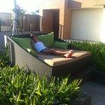 Zona de relax en la terraza de la rooftop suite