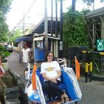 Trishaw stand in front of hotel