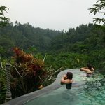 infinity pool overlooking rice terraces