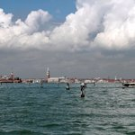 Вид с пристани на Венецию