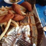 flounder, fritters and fries