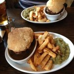 Steak and Ale pie with real chips!