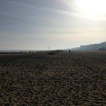 La spiaggia nei pressi dell'hotel