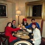 Familia no Restaurante no Natal.