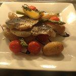 A wonderful Seabass lunch