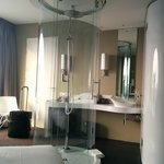 Shower in the middle of the room - Very Funky.  Yet, not a recommended hotel (read my review)