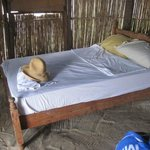 bed in a hut
