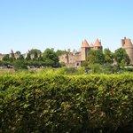 Vue de la Cité Médiévale du Jardin