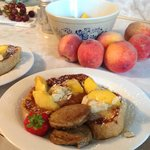 Peaches and Creak French Toast