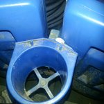 Grunge in cupholder (opening day 2014) Sec 206 F14