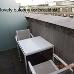 Grimy balcony with lovely concrete