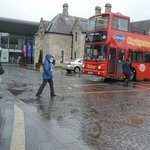 Rainy run to the BLUE ROUTE red hop on/off bus