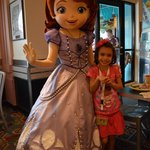 Sofia the 1st and my daughter - this princess really walked like a princess!