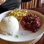 The Pinoy. Corned beef and scrambled eggs served with rice. My husband's absolute favourite!