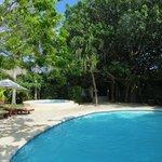 La piscine et le jacuzzi de l'hotel Na Balam
