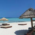 Playa Norte, face au restaurant de l'Hotel Na Balam