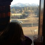 The view of the mountains from our table