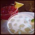 strawberry and classic margarita