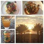 Mahi Mahi, Angus Ribeye, cocktails, and amazing view at Shor! PERFECT!