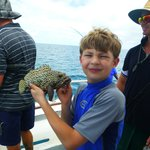 Fishing off Heron Island