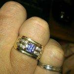 My tanzenite and diamond ring