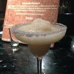 frozen margarita at the bar