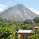 Arenal Volcano view from Erupciones Inn B&B