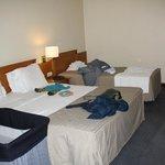 vista parcial de la habitación (cama doble y cama simple)