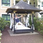 Excited with our own Bali bed