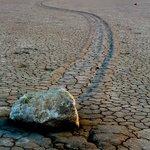 Racetrack boulder and track