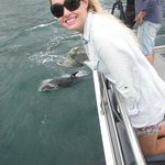 Enjoying dolphin watching