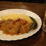 Polenta, Sour Cream, and Cevapcici wrapped in Cabbage.