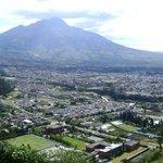 Vista e la ciudad de Ibarra