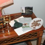 Welcome wine and Chocolates