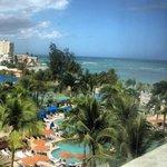 Pool and Beach looking toward El San Juan