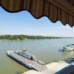 Danube view from grill terrace