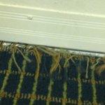 Carpet at threshold