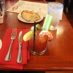 Fish Market Bloody Mary is nearly a meal