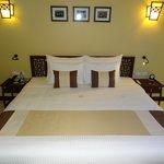 Bed in honeymoon suite
