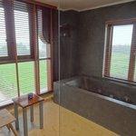 Bathroom view in honeymoon suite