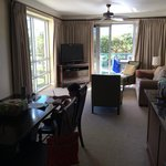 2 bdrm resort view living room- lots of light and windows