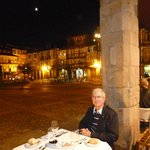 At Hotel da Oliveira's superb and wonderful restaurant and terrace in Guimarães