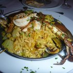 Fusion - Mediterranean Paella  (with bacon, seafood and more pork)