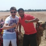Ahmed on the right accompanied us in the desert on the camel trip