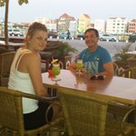 Last evening in Curacao, eating steaks and drinking cocktails :-)